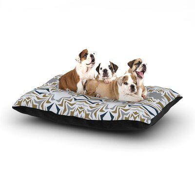 Miranda Mol Ice Stars Dog Pillow with Fleece Cozy Top Size: Large (50 W x 40 D x 8 H)
