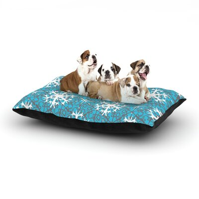 Miranda Mol Precious Flakes Dog Pillow with Fleece Cozy Top Size: Small (40 W x 30 D x 8 H)