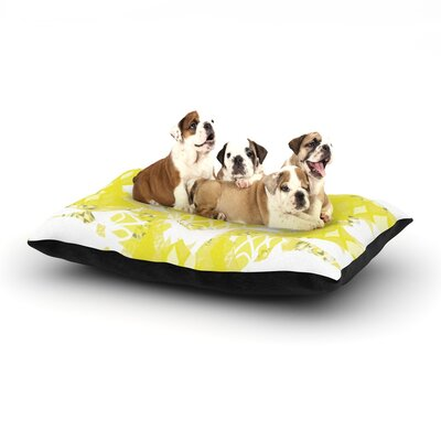 Miranda Mol Citrus Spritz Dog Pillow with Fleece Cozy Top Size: Small (40 W x 30 D x 8 H)