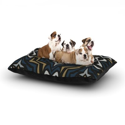 Miranda Mol Winter Fractals Dog Pillow with Fleece Cozy Top Size: Small (40 W x 30 D x 8 H)