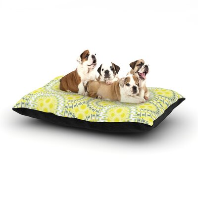 Miranda Mol Blossoming Buds Dog Pillow with Fleece Cozy Top Size: Large (50 W x 40 D x 8 H)
