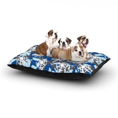 Miranda Mol Ice Topography Dog Pillow with Fleece Cozy Top Size: Large (50 W x 40 D x 8 H)
