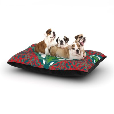 Miranda Mol Lace Flakes Dog Pillow with Fleece Cozy Top Size: Small (40 W x 30 D x 8 H)