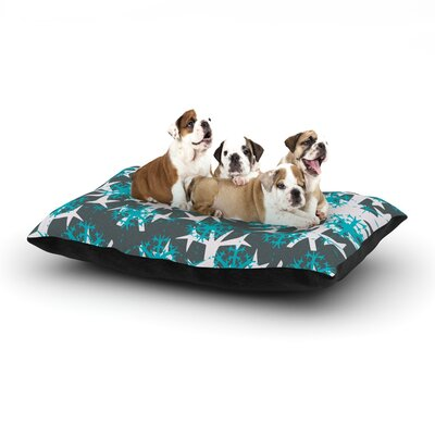 Miranda Mol Tree Snow Flakes Dog Pillow with Fleece Cozy Top Size: Large (50 W x 40 D x 8 H)