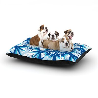 Miranda Mol Winter Mountains Dog Pillow with Fleece Cozy Top Size: Small (40 W x 30 D x 8 H)