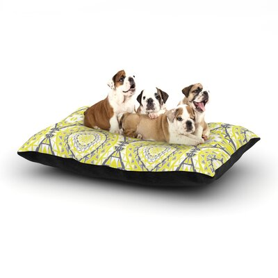 Miranda Mol Yellow Tessellation Dog Pillow with Fleece Cozy Top Size: Small (40 W x 30 D x 8 H)