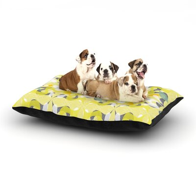 Miranda Mol Spring Flourish Dog Pillow with Fleece Cozy Top Size: Small (40 W x 30 D x 8 H)
