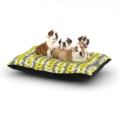Miranda Mol Whirling Leaves Dog Pillow with Fleece Cozy Top Size: Large (50 W x 40 D x 8 H)