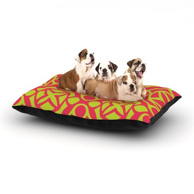 Miranda Mol Holiday Dog Pillow with Fleece Cozy Top Size: Large (50 W x 40 D x 8 H)