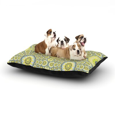 Miranda Mol Multifaceted Flowers Dog Pillow with Fleece Cozy Top Size: Small (40 W x 30 D x 8 H)