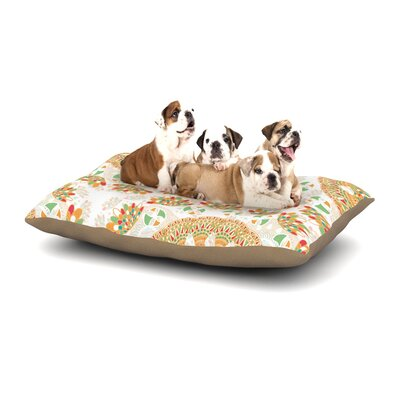 Miranda Mol Bohemian Bright Geometric Dog Pillow with Fleece Cozy Top Size: Small (40 W x 30 D x 8 H)