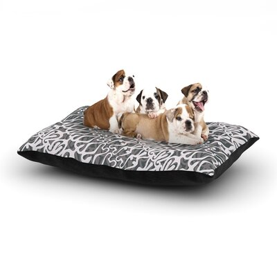 Miranda Mol Silver Lace Dog Pillow with Fleece Cozy Top Size: Small (40 W x 30 D x 8 H)