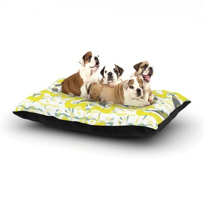 Miranda Mol Azulejos Dog Pillow with Fleece Cozy Top Size: Small (40 W x 30 D x 8 H)
