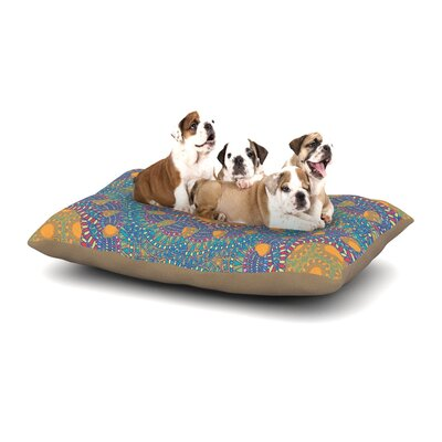 Miranda Mol Prismatic Abstract Dog Pillow with Fleece Cozy Top Size: Large (50 W x 40 D x 8 H), Color: Orange/Blue