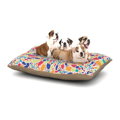 Miranda Mol Flourishing Geometric Dog Pillow with Fleece Cozy Top Size: Large (50 W x 40 D x 8 H), Color: Blue/Multi