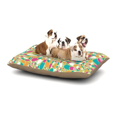 Miranda Mol Flourishing Geometric Dog Pillow with Fleece Cozy Top Size: Small (40 W x 30 D x 8 H), Color: Green/Multi