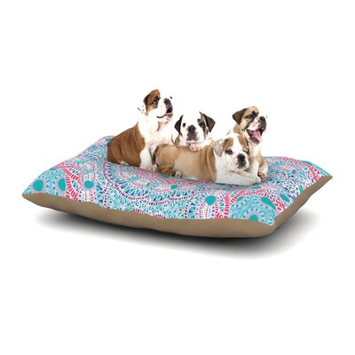 Miranda Mol Prismatic Abstract Dog Pillow with Fleece Cozy Top Size: Small (40 W x 30 D x 8 H), Color: Blue/Pink/White