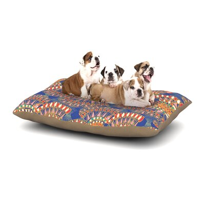 Miranda Mol Energy Abstract Dog Pillow with Fleece Cozy Top Size: Small (40 W x 30 D x 8 H)