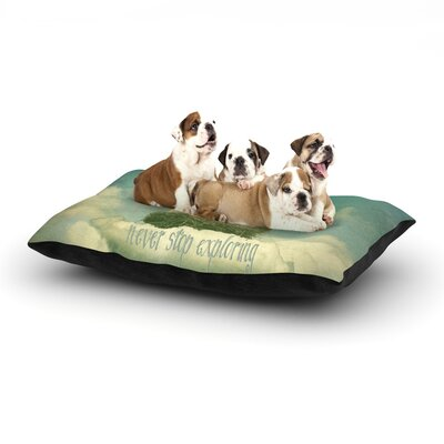 Monika Strigel Never Stop Exploring Dog Pillow with Fleece Cozy Top Size: Small (40 W x 30 D x 8 H)
