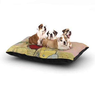 Matthew Reid Thalamus Dog Pillow with Fleece Cozy Top Size: Large (50 W x 40 D x 8 H)