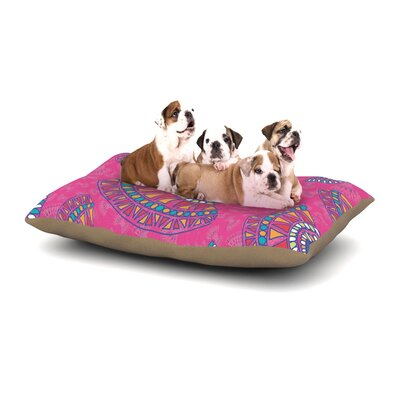 Miranda Mol Tribal Fun Pink Magenta Abstract Dog Pillow with Fleece Cozy Top Size: Small (40 W x 30 D x 8 H)