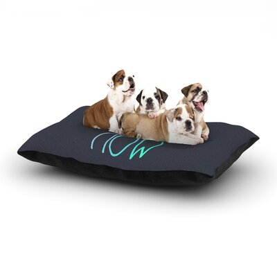 Monika Strigel Cuddle Time Mint Dog Pillow with Fleece Cozy Top Size: Small (40 W x 30 D x 8 H)