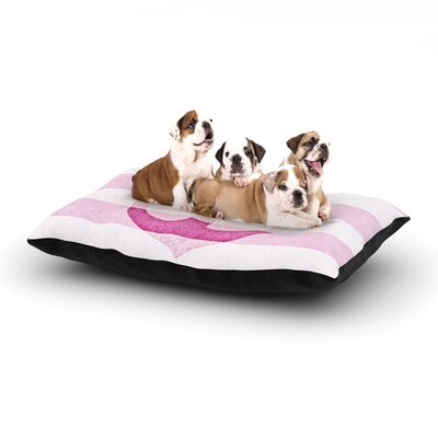 Monika Strigel Stone Vintage Anchor Dog Pillow with Fleece Cozy Top Size: Small (40 W x 30 D x 8 H), Color: Pink