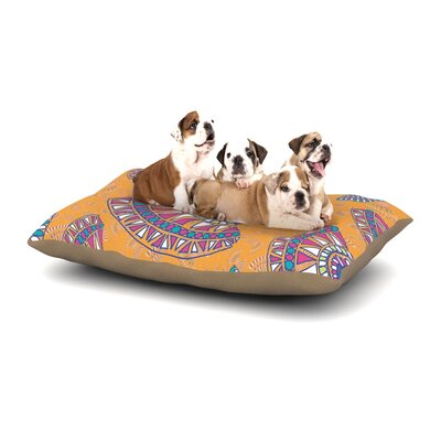 Miranda Mol Tribal Fun Orange Abstract Dog Pillow with Fleece Cozy Top Size: Small (40 W x 30 D x 8 H)