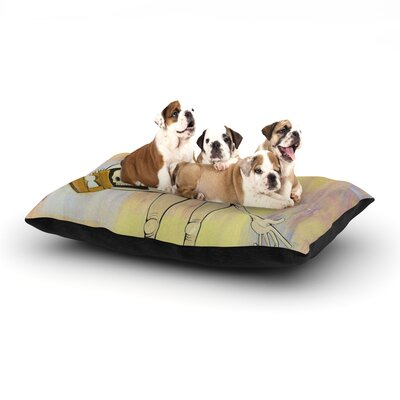 Matthew Reid Good Day Dog Pillow with Fleece Cozy Top Size: Small (40 W x 30 D x 8 H)