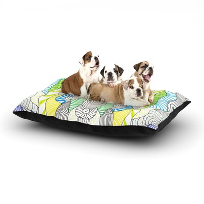 Monika Strigel Wormland Dog Pillow with Fleece Cozy Top Size: Small (40 W x 30 D x 8 H)