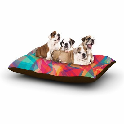 Miranda Mol Triangle Opticals Dog Pillow with Fleece Cozy Top Size: Large (50 W x 40 D x 8 H)