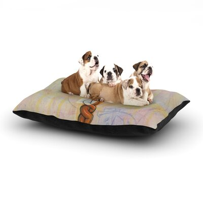 Matthew Reid Never to Forget Dog Pillow with Fleece Cozy Top Size: Small (40 W x 30 D x 8 H)
