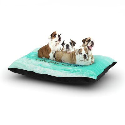 Monika Strigel Summer XXL Dog Pillow with Fleece Cozy Top Size: Small (40 W x 30 D x 8 H)