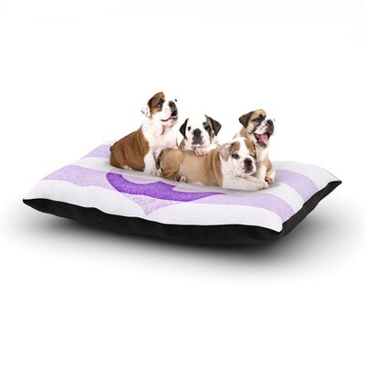 Monika Strigel Stone Vintage Anchor Dog Pillow with Fleece Cozy Top Size: Small (40 W x 30 D x 8 H), Color: Purple