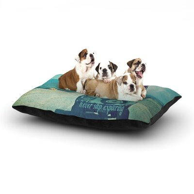 Monika Strigel Never Stop Exploring III Dog Pillow with Fleece Cozy Top Size: Small (40 W x 30 D x 8 H)