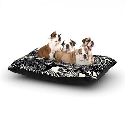 Monika Strigel Neptunes Garden Dog Pillow with Fleece Cozy Top Size: Small (40 W x 30 D x 8 H), Color: Black/White