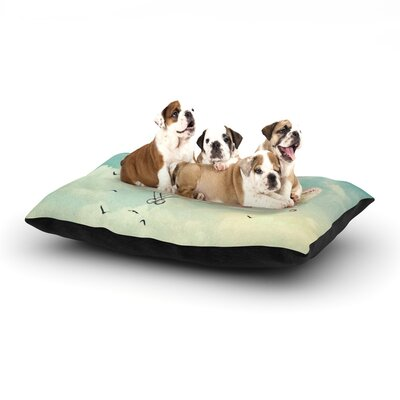 Monika Strigel Never Stop Exploring II Dog Pillow with Fleece Cozy Top Size: Small (40 W x 30 D x 8 H)