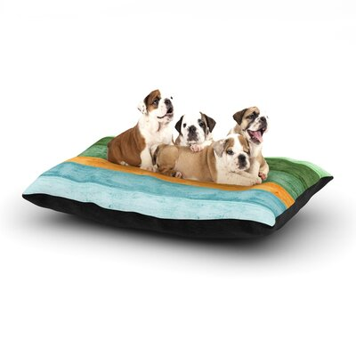 Monika Strigel Beach Wood Dog Pillow with Fleece Cozy Top Color: Blue, Size: Large (50 W x 40 D x 8 H)