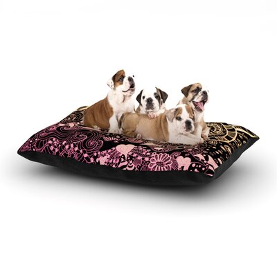 Monika Strigel Neptunes Garden Dog Pillow with Fleece Cozy Top Size: Large (50 W x 40 D x 8 H), Color: Purple/Yellow