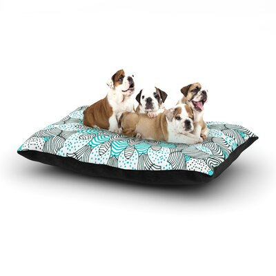 Monika Strigel Dots and Stripes Dog Pillow with Fleece Cozy Top Size: Large (50 W x 40 D x 8 H), Color: Mint