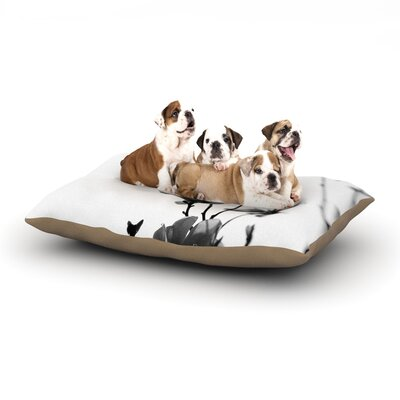 Monika Strigel Mulan Magnolia Dog Pillow with Fleece Cozy Top Size: Large (50 W x 40 D x 8 H)