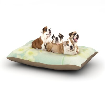 Monika Strigel Happy Spring Dog Pillow with Fleece Cozy Top Size: Large (50 W x 40 D x 8 H)