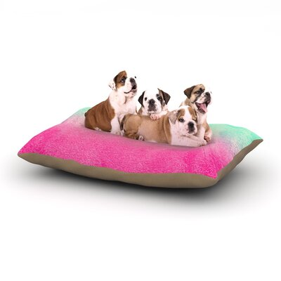 Monika Strigel Sunny Melon Magenta Dog Pillow with Fleece Cozy Top Size: Small (40 W x 30 D x 8 H)
