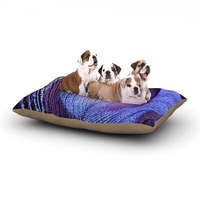 Monika Strigel Purple Peacock Dog Pillow with Fleece Cozy Top Size: Large (50 W x 40 D x 8 H)