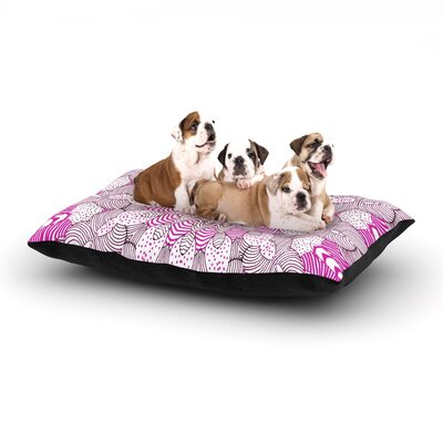 Monika Strigel Dots and Stripes Dog Pillow with Fleece Cozy Top Size: Small (40 W x 30 D x 8 H), Color: Pink