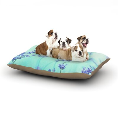 Monika Strigel Mint Lavender Dog Pillow with Fleece Cozy Top Size: Large (50 W x 40 D x 8 H)