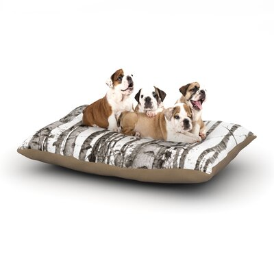 Monika Strigel Birchwood Forest Dog Pillow with Fleece Cozy Top Size: Large (50 W x 40 D x 8 H)