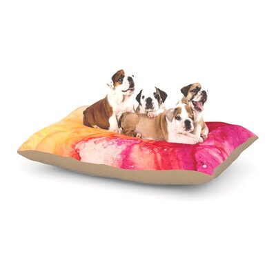Malia Shields Color River IV Dog Pillow with Fleece Cozy Top Size: Small (40 W x 30 D x 8 H)