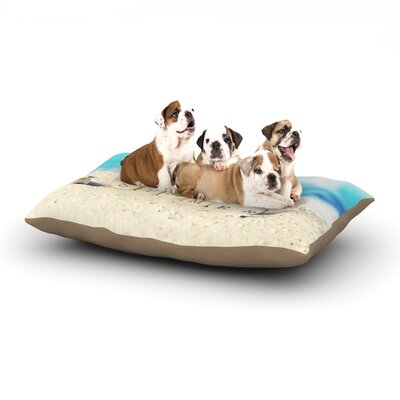Monika Strigel Summer at the Beach Coastal Dog Pillow with Fleece Cozy Top Size: Small (40 W x 30 D x 8 H)