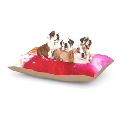 Malia Shields The Color River III Dog Pillow with Fleece Cozy Top Size: Small (40 W x 30 D x 8 H)